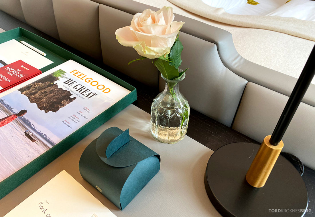 Britannia Hotel Trondheim blomst og gave