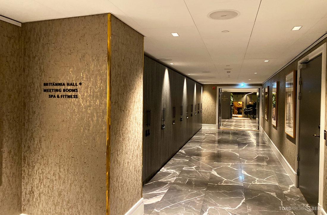 Britannia Hotel Trondheim korridor i kjelleren