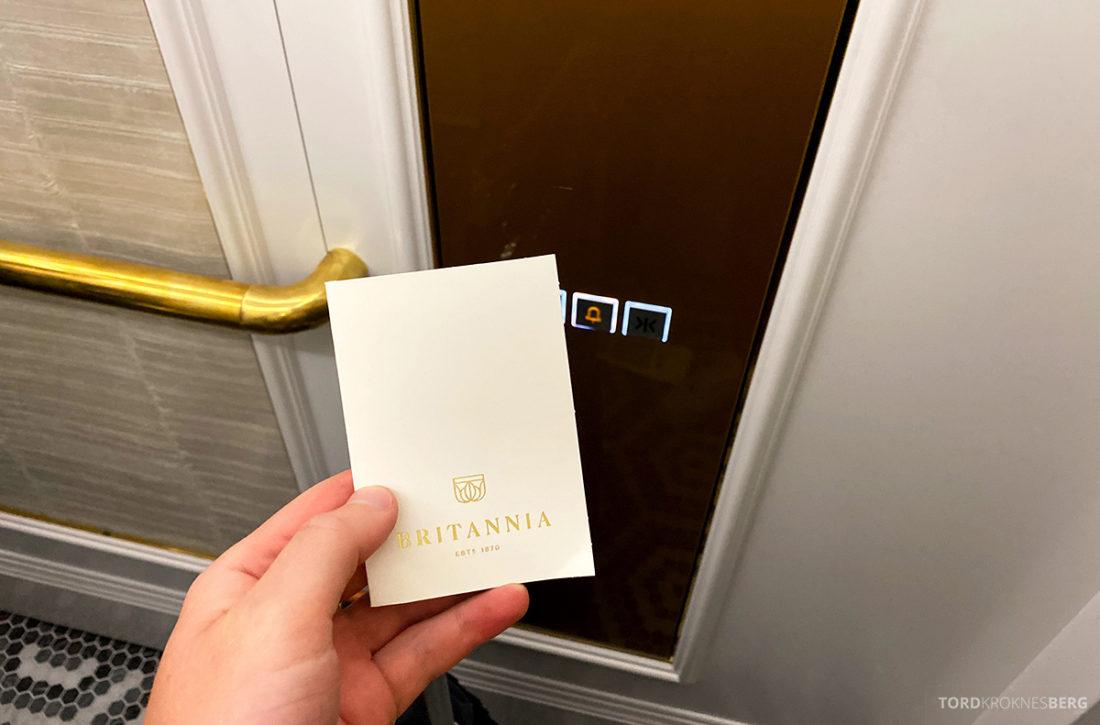 Britannia Hotel Trondheim nøkkelkort