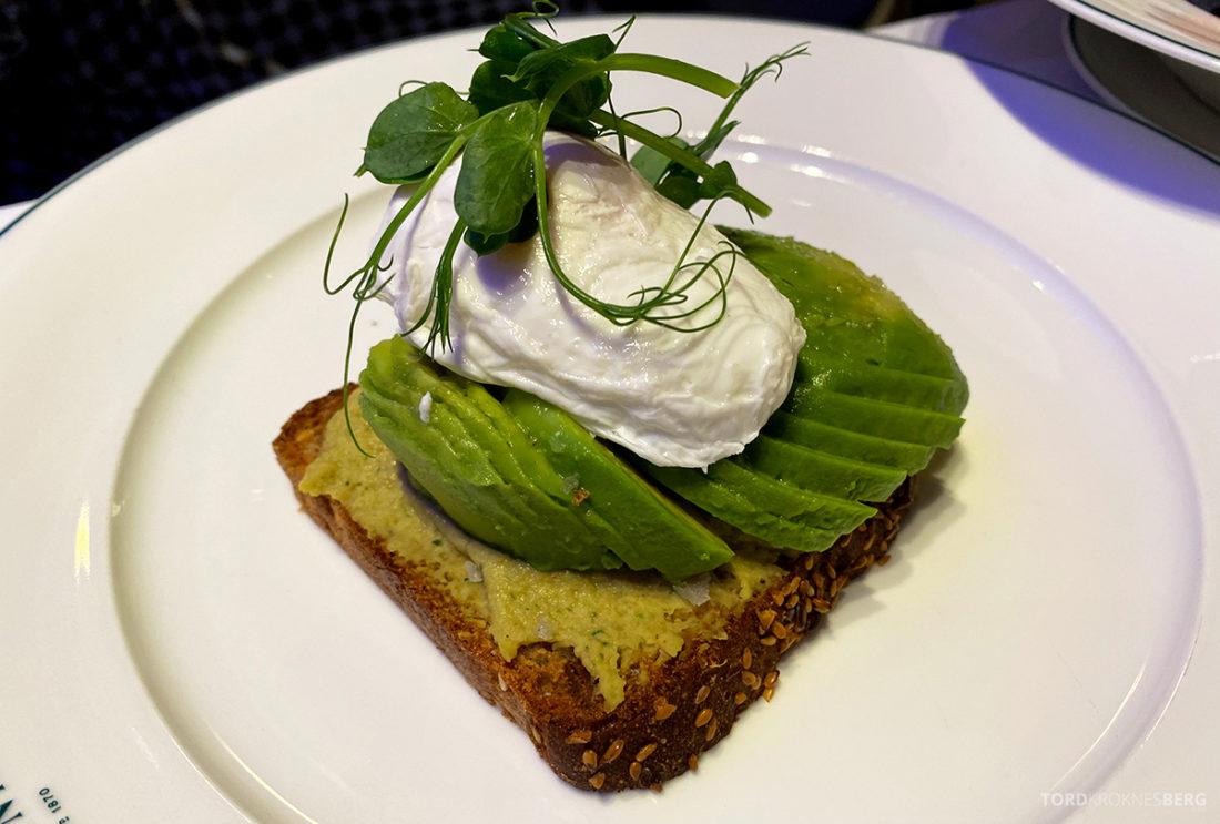 Britannia Hotel Trondheim frokost avocadotoast