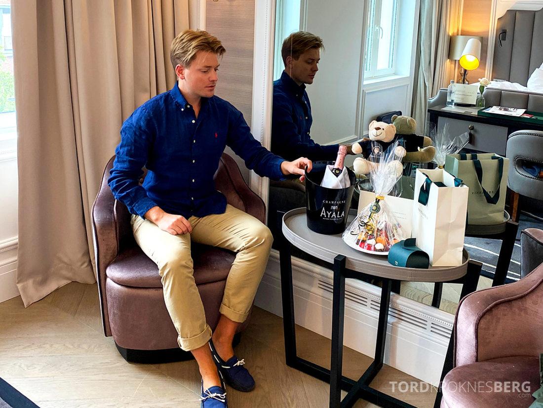 Britannia Hotel Trondheim Tord Kroknes Berg velkomstgave