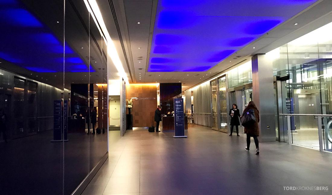 British Airways Club Europe Lisboa London Oslo vei mot lounge