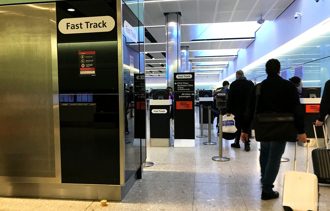 British Airways Club Europe Oslo Lisbon fast track heathrow