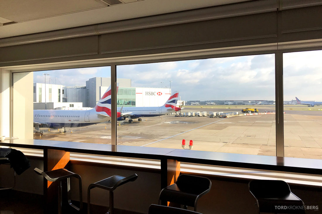 British Airways Club Europe Oslo Lisbon Club Lounge utsikt