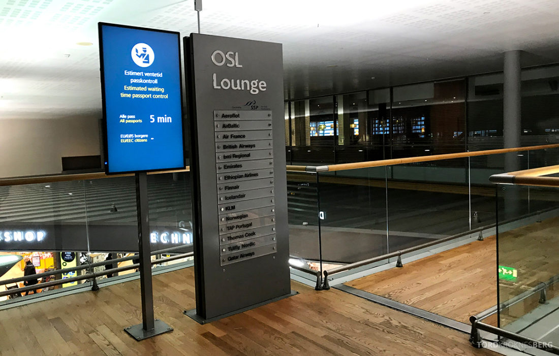 British Airways Club Europe Oslo Lisbon OSL Lounge inngang