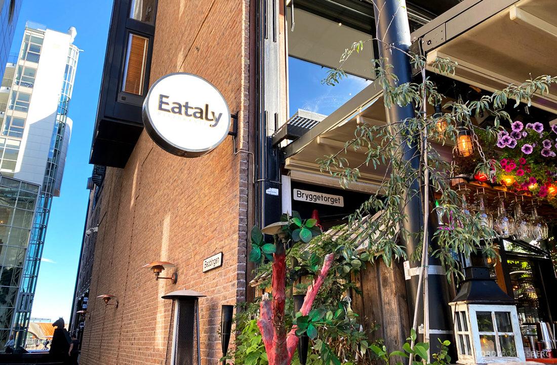 Eataly Restaurant Aker Brygge Oslo inngang logo