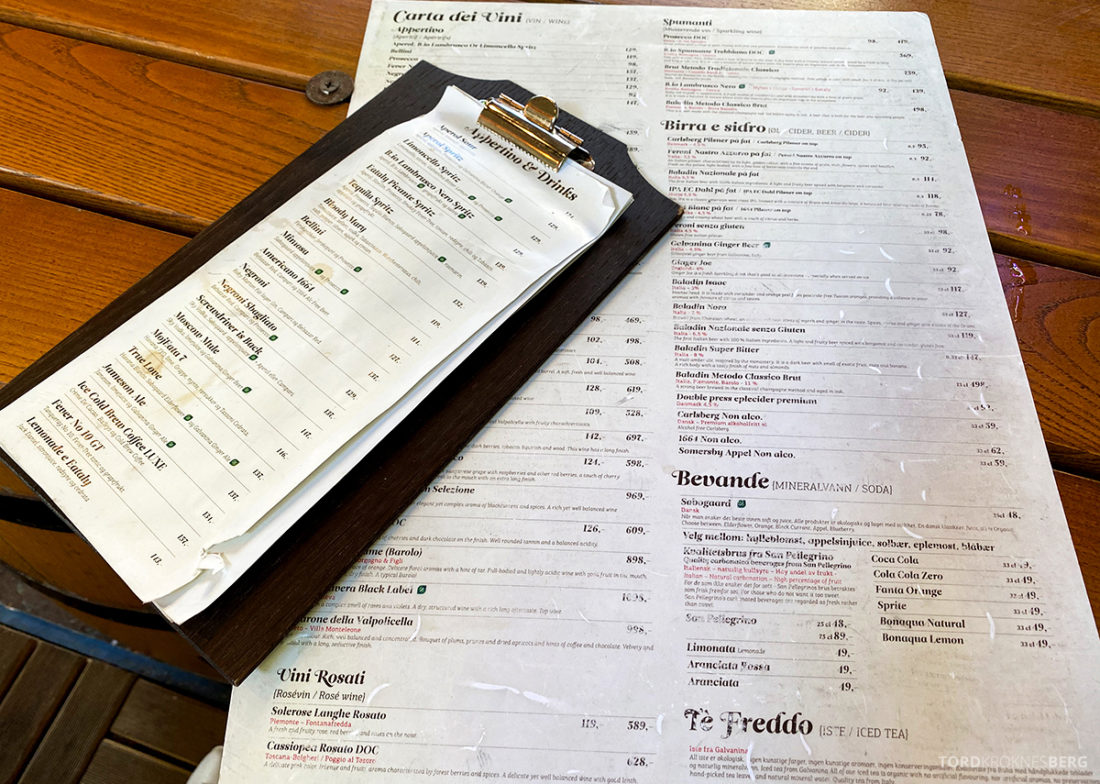 Eataly Restaurant Aker Brygge Oslo menyene