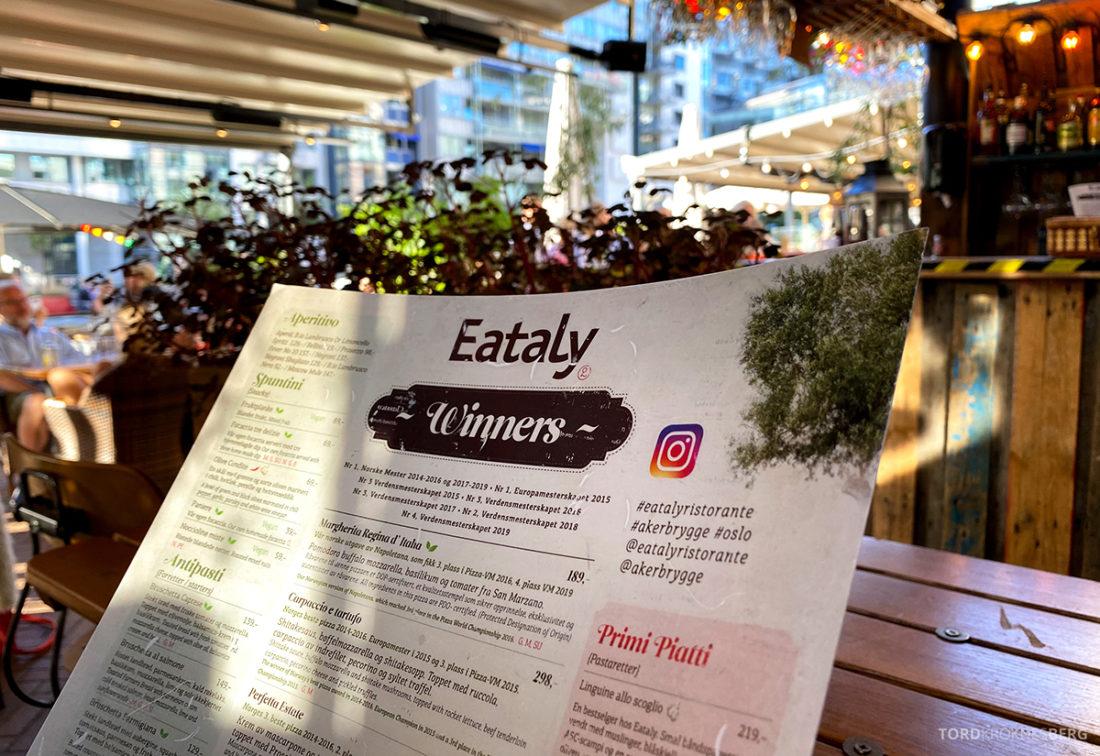 Eataly Restaurant Aker Brygge Oslo meny utsikt