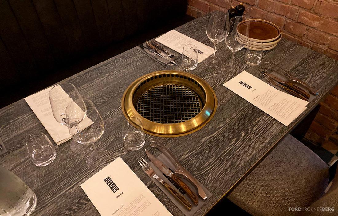 Jonathan Grill Restaurant Trondheim bord