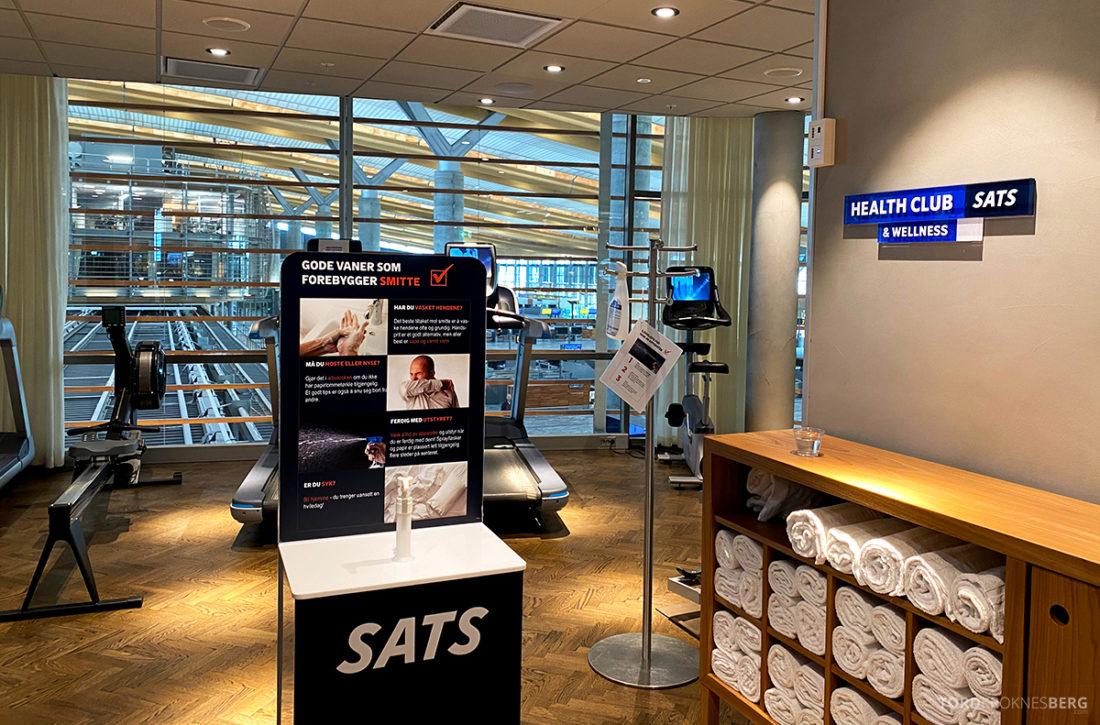 SAS Lounge Oslo Corona gym
