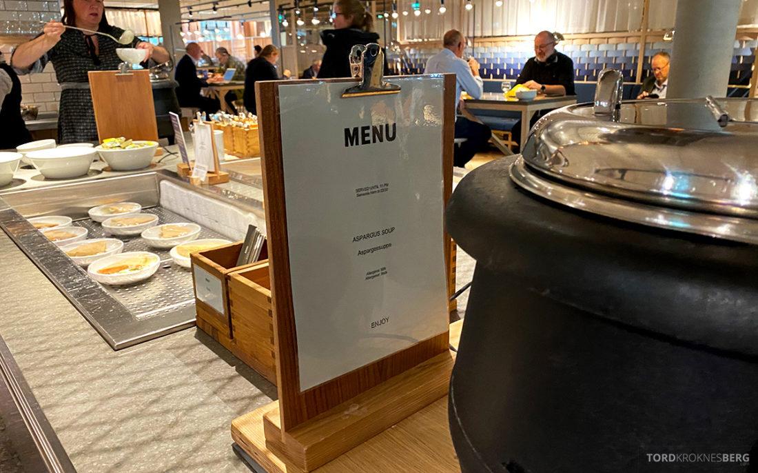 SAS Lounge Oslo Corona suppe