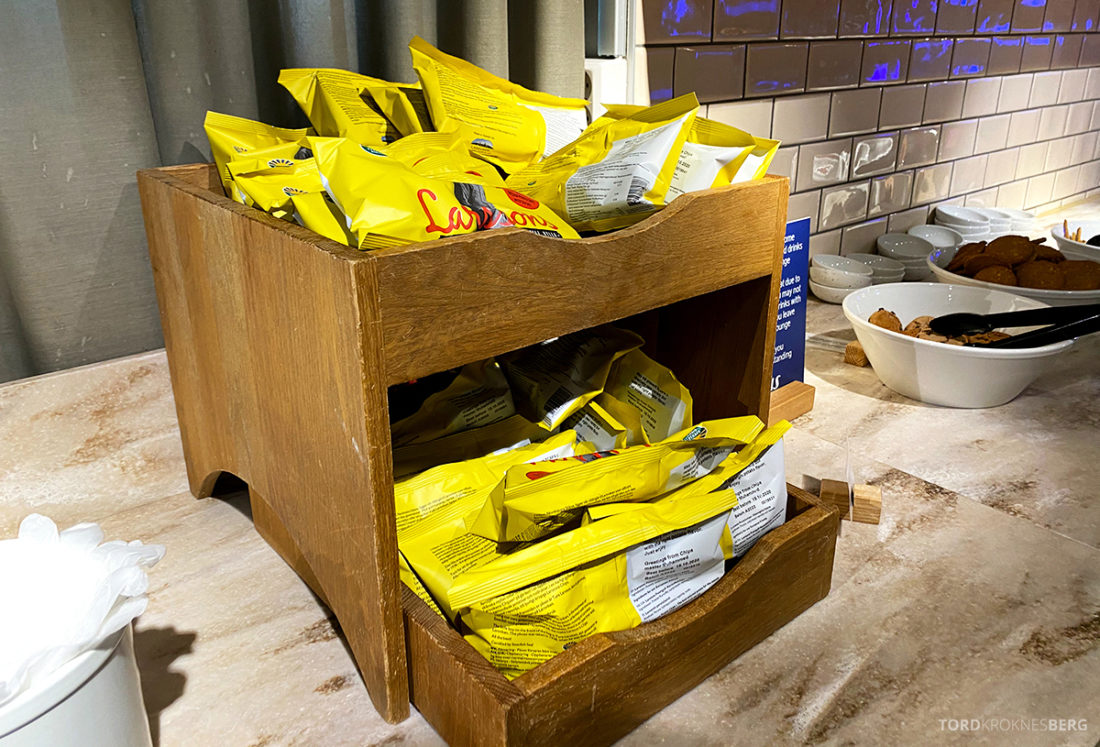 SAS Lounge Oslo Corona chips
