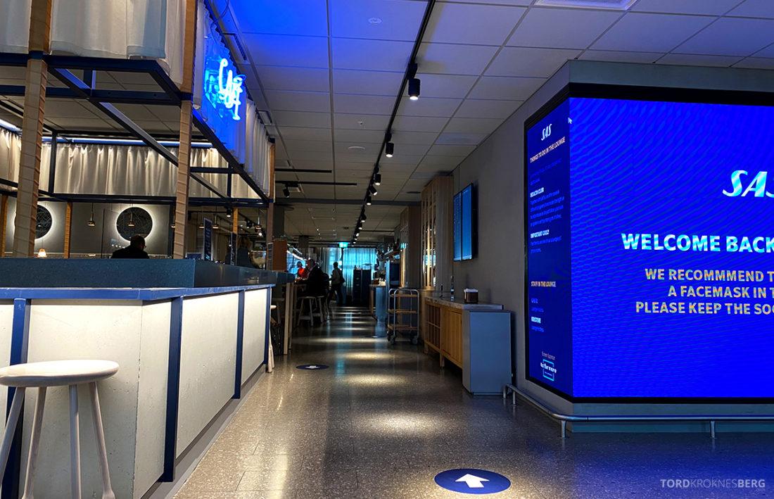 SAS Lounge Oslo Corona utsikt kaffebar