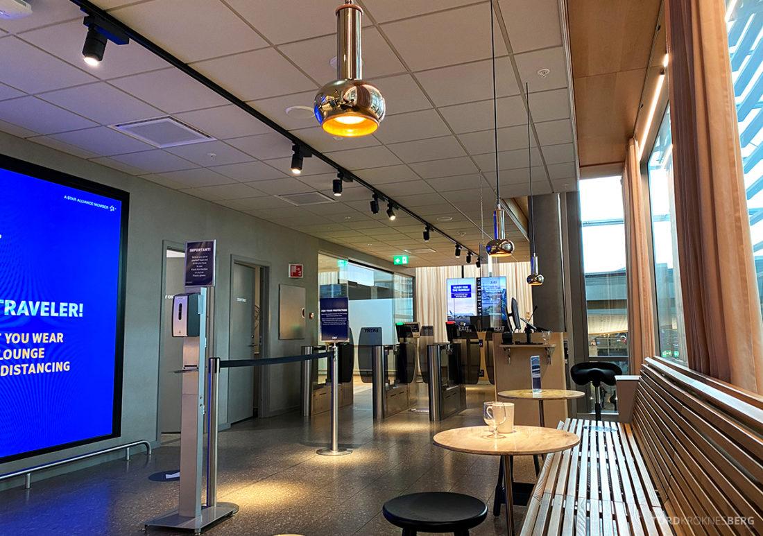SAS Lounge Oslo Corona inngangsparti