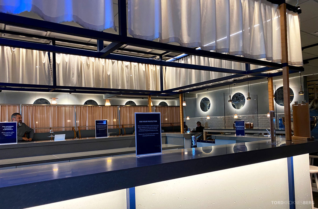 SAS Lounge Oslo Corona kaffebar