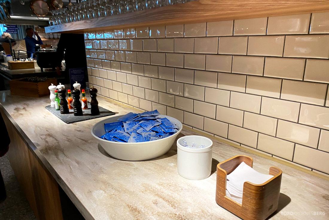 SAS Lounge Oslo Corona servietter