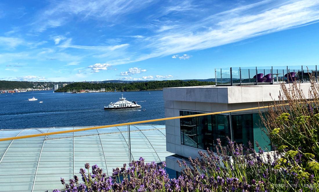 Thief Roof Grill Restaurant Oslo utsikt fjord