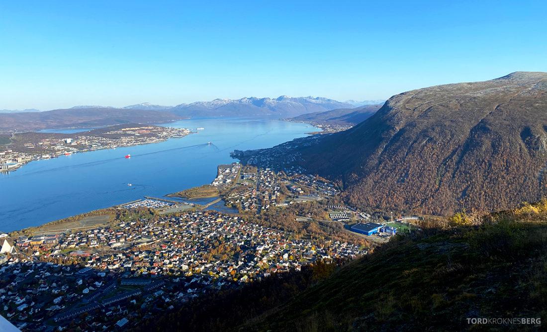 Fjellheisen Tur Tromsø utsikt Tromsdalen