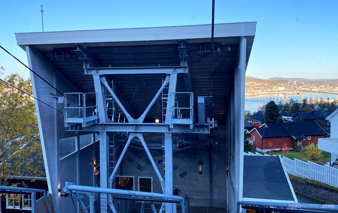Fjellheisen Tur Tromsø på vei opp