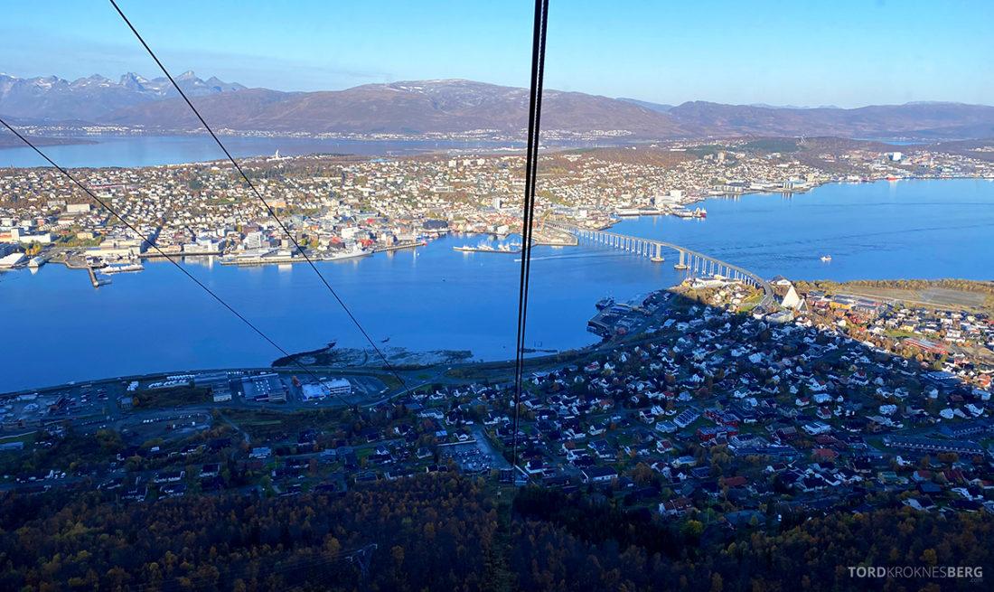 Fjellheisen Tur Tromsø utsikt underveis
