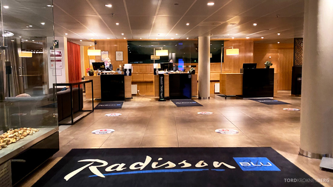 Radisson Blu Tromsø Hotel resepsjon