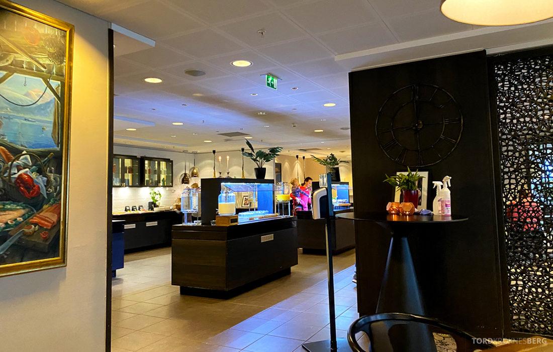 Radisson Blu Tromsø Hotel utsikt mot buffet