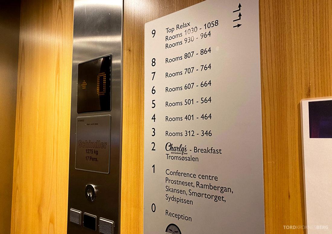 Radisson Blu Tromsø Hotel oversikt etasjer