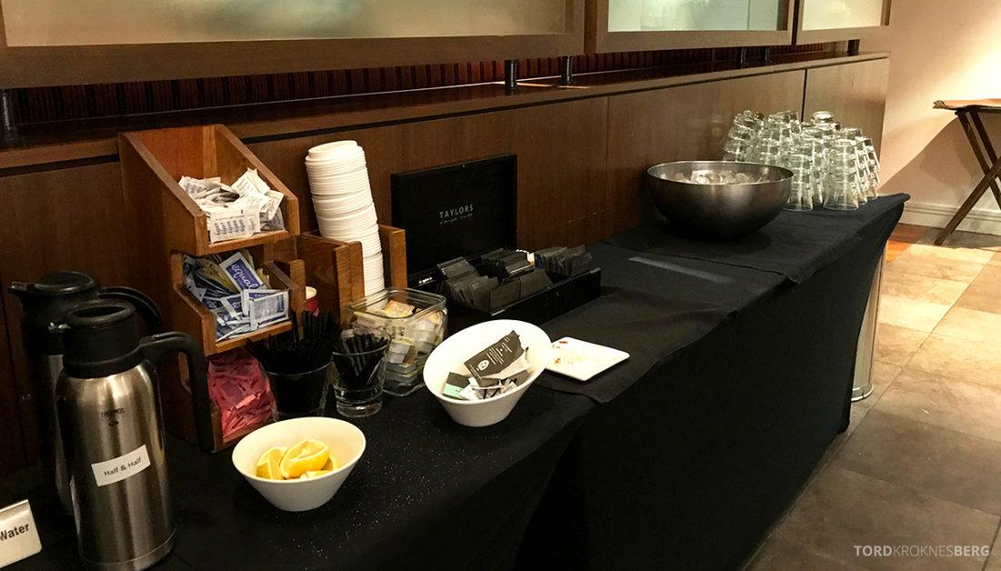 Renaissance Newark Airport Hotel Club Lounge kaffe og te
