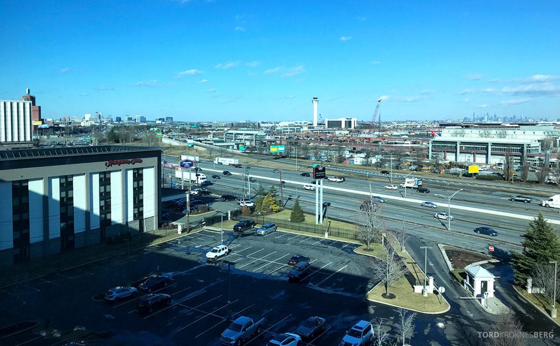 Renaissance Newark Airport Hotel utsikt parkering