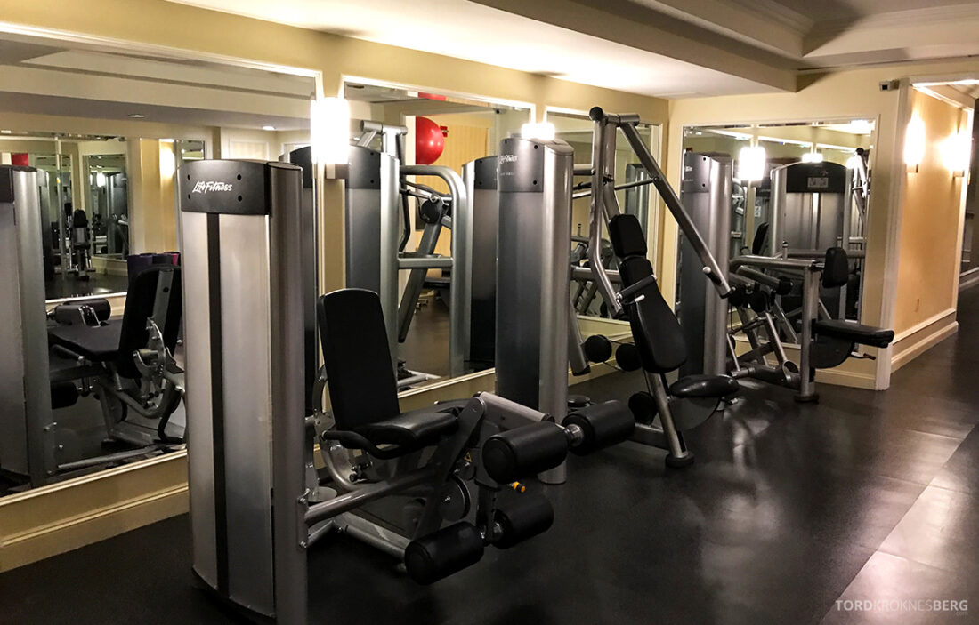 Ritz-Carlton Hotel New York Central Park gym vekter