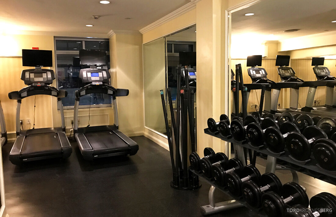 Ritz-Carlton Hotel New York Central Park gym oversikt