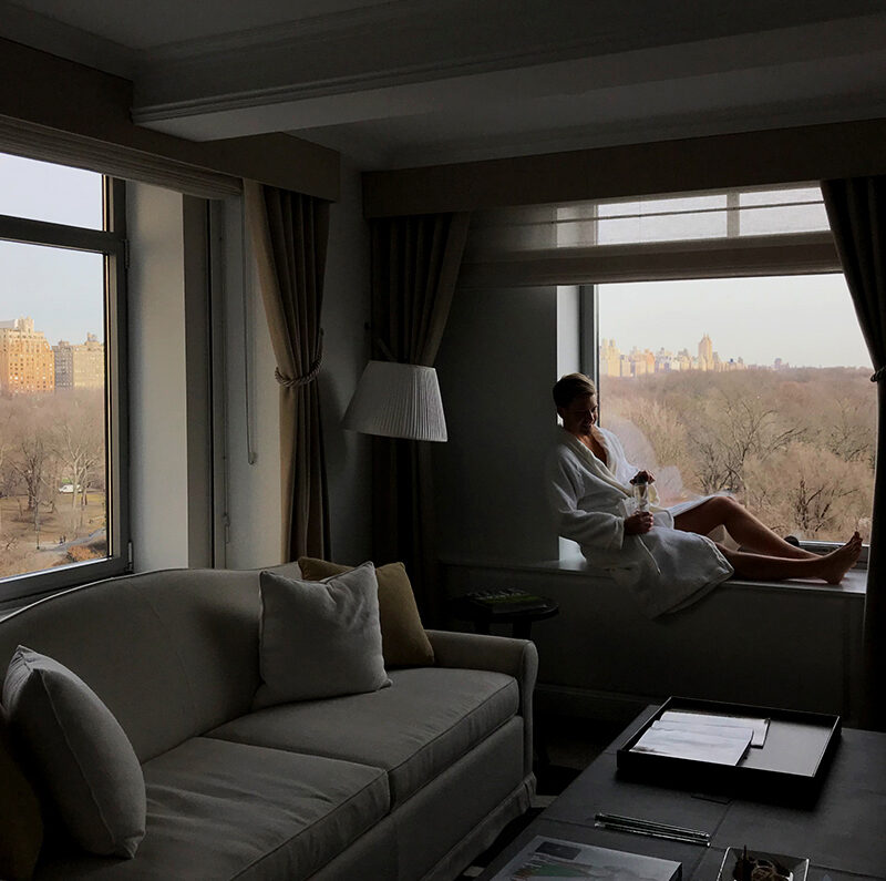 Ritz-Carlton Hotel New York Central Park Tord Kroknes Berg utsikt vindu