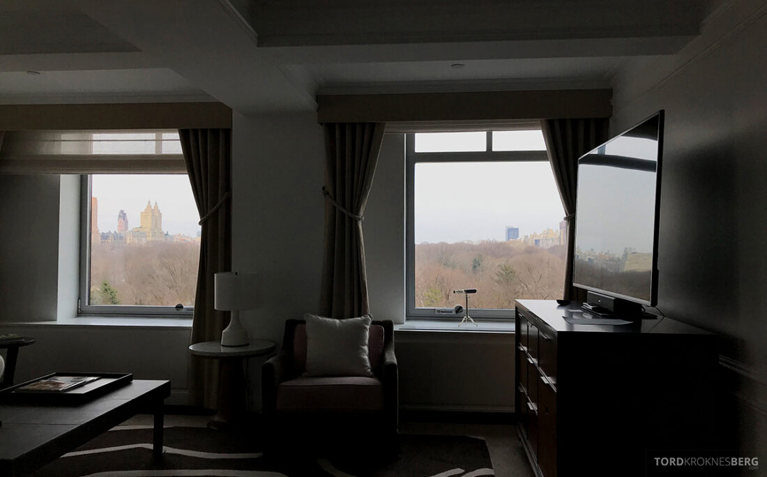 Ritz-Carlton Hotel New York Central Park utsikt stue