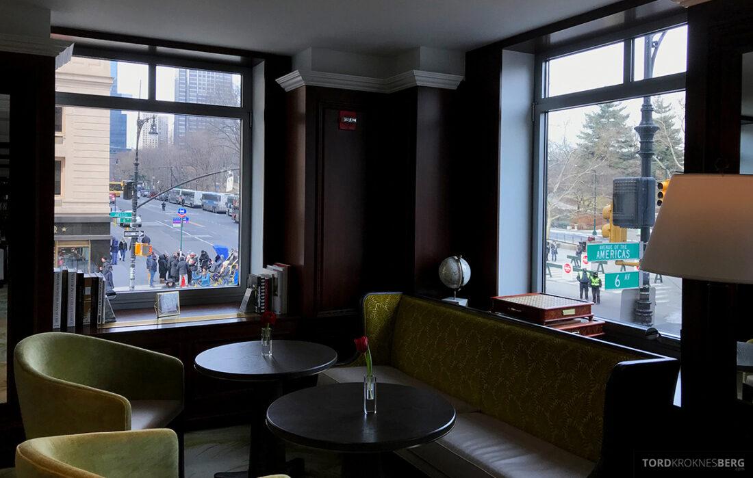 Ritz-Carlton Hotel New York Central Park Club Lounge utsikt