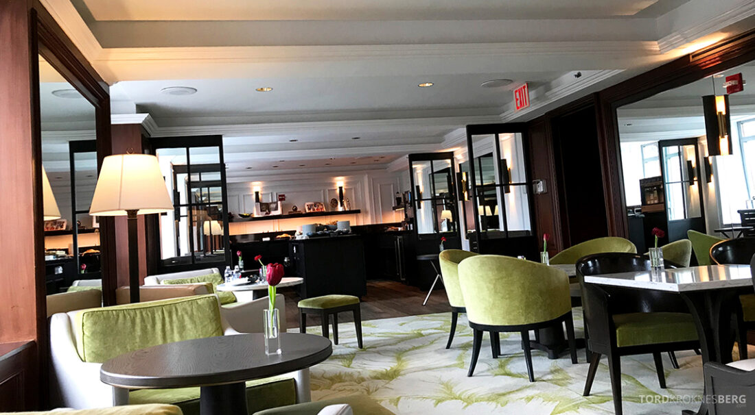 Ritz-Carlton Hotel New York Central Park Club Lounge utsikt buffet