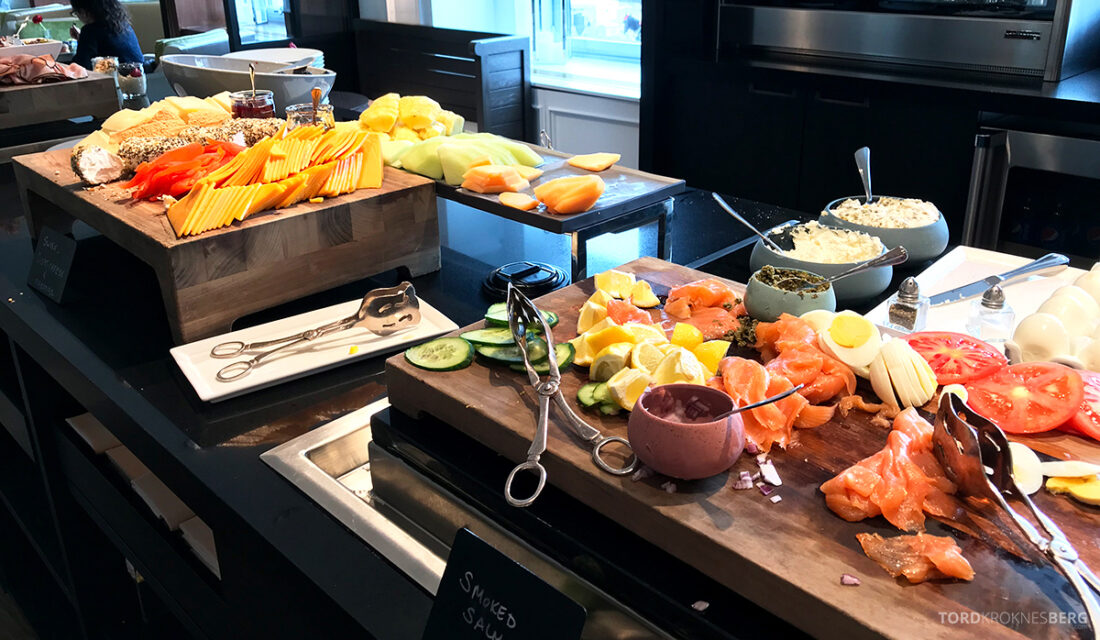 Ritz-Carlton Hotel New York Central Park Club Lounge laks frokost