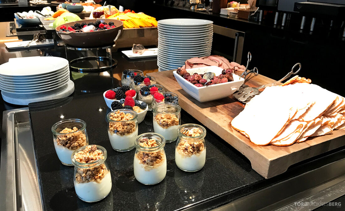 Ritz-Carlton Hotel New York Central Park Club Lounge frokost yogurt