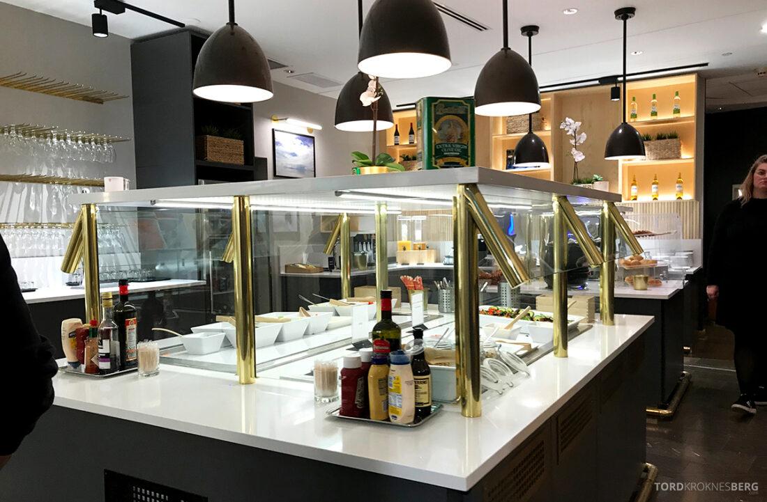SAS Plus New York Oslo direkte buffet lounge