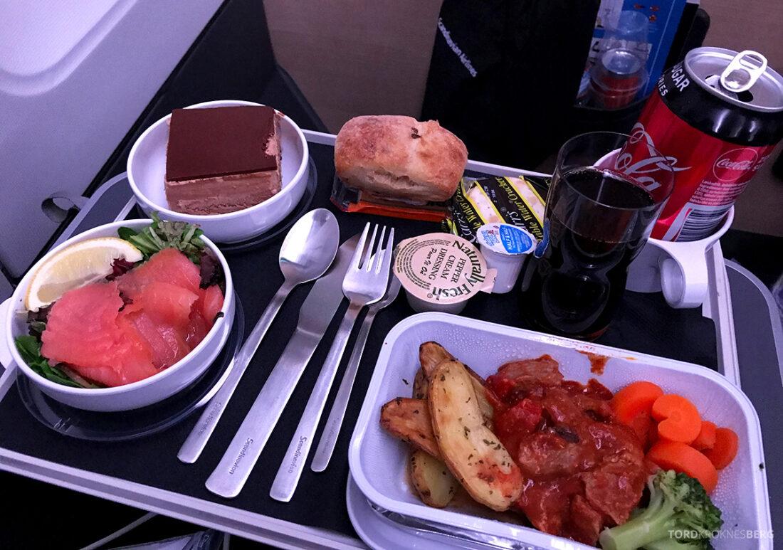 SAS Plus New York Oslo direkte middag