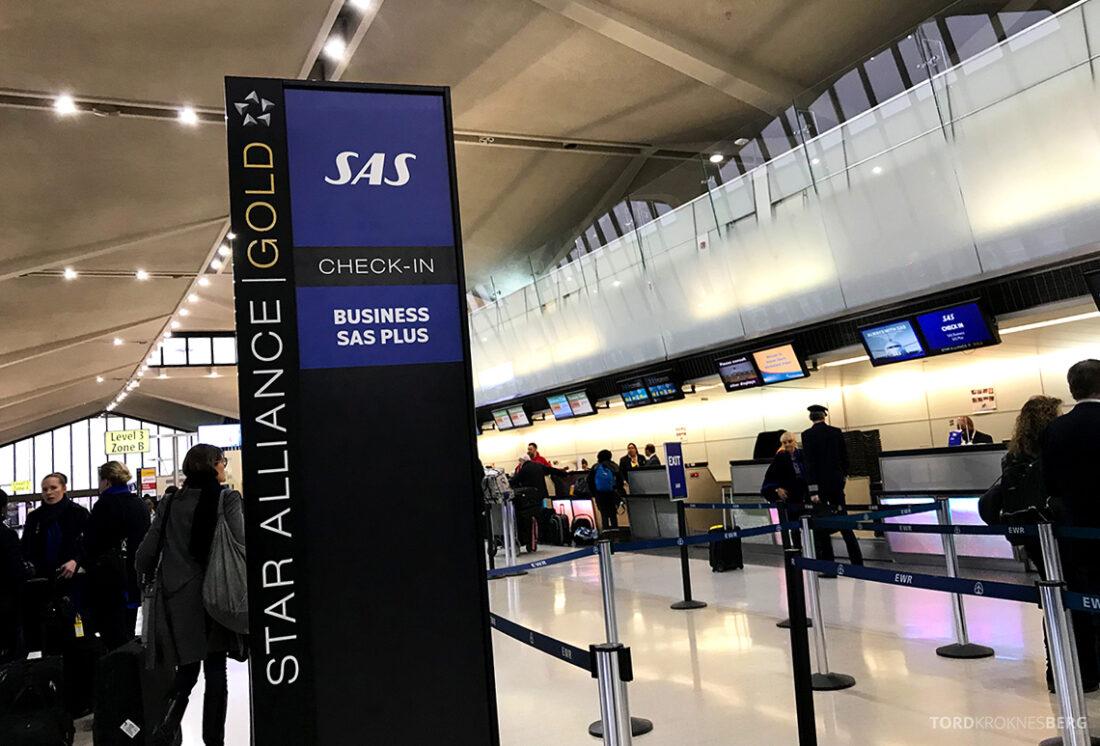 SAS Plus New York Oslo direkte innsjekk