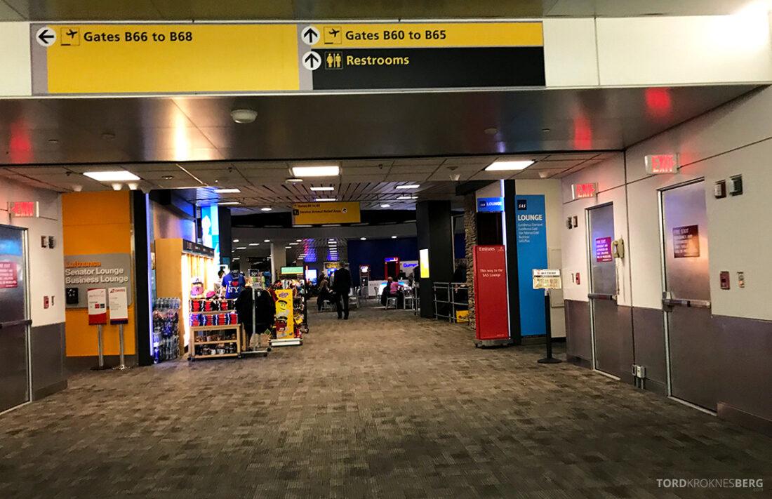 SAS Plus New York Oslo direkte på vei mot lounge