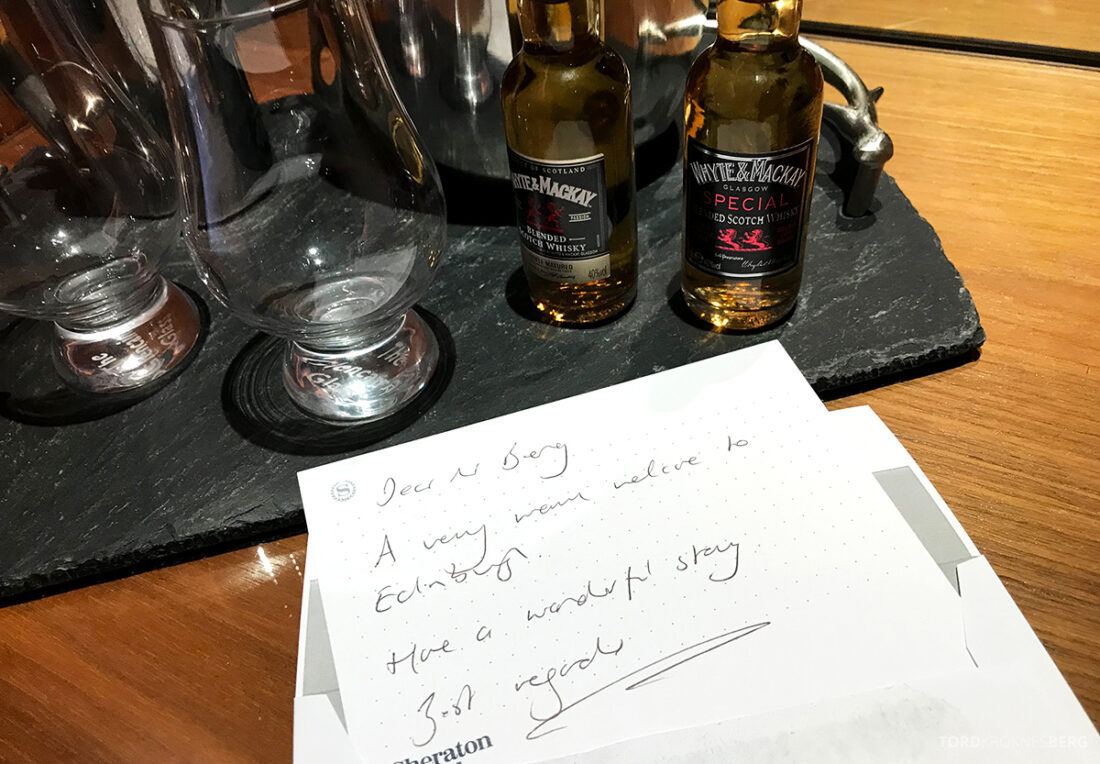Sheraton Grand Hotel & Spa Edinburgh velkomstgave