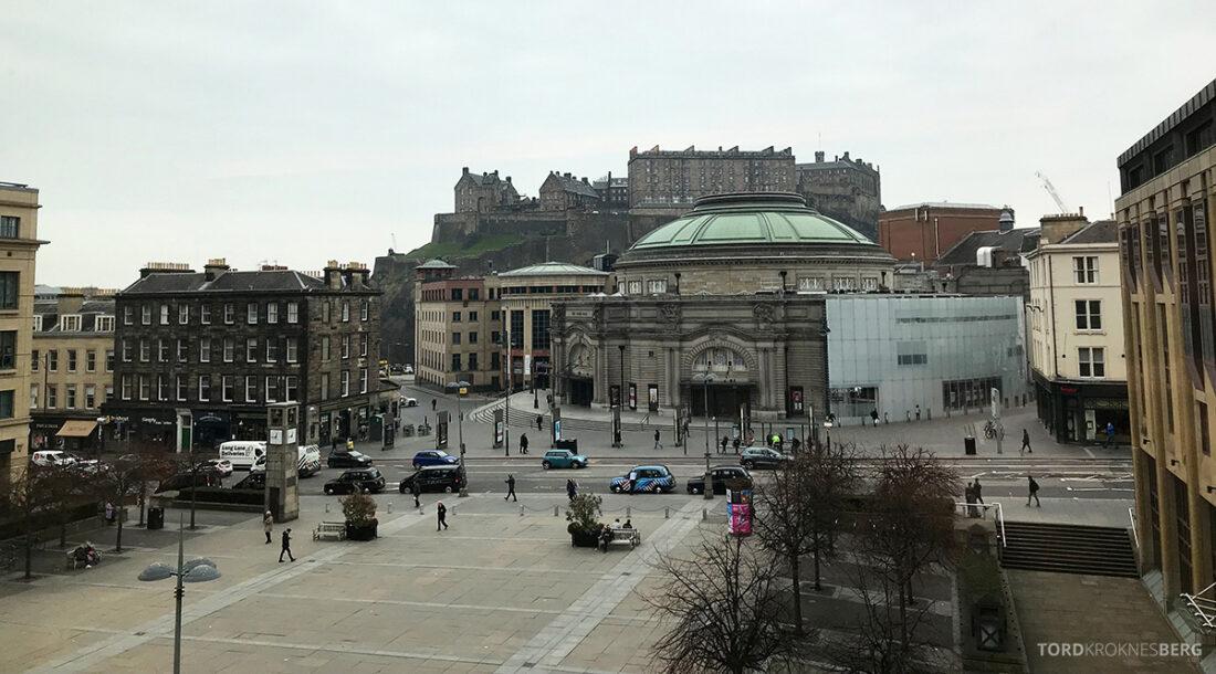 Sheraton Grand Hotel & Spa Edinburgh utsikt slott