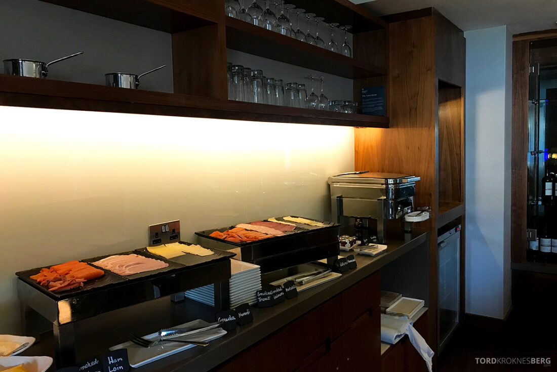 Sheraton Grand Hotel & Spa Edinburgh Club Lounge pålegg frokost