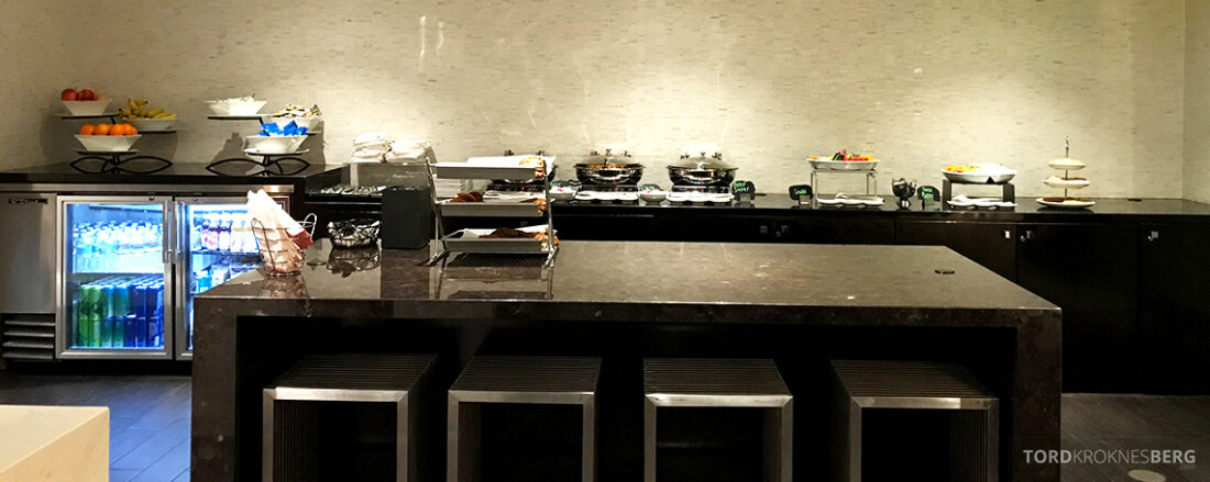 Beverly Hills Marriott Hotel Executive Lounge hors d'oeuvre oversikt