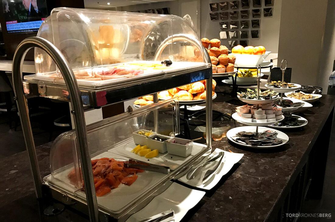 Beverly Hills Marriott Hotel Executive Lounge pålegg