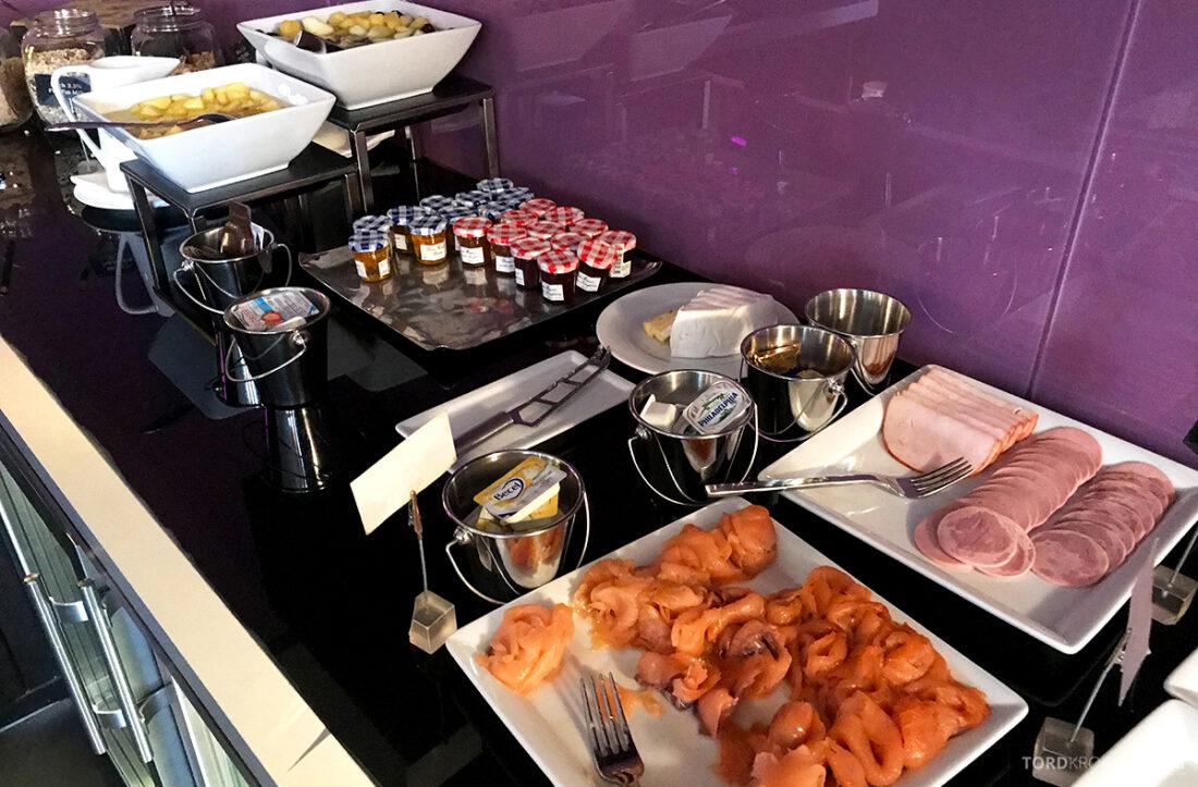Marriott Hamburg Hotel Executive Lounge frokost pålegg