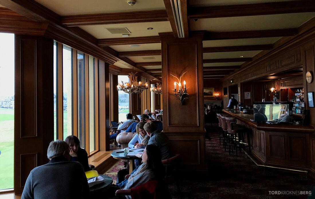 Old Course Hotel St. Andrews Scotland bar oversikt