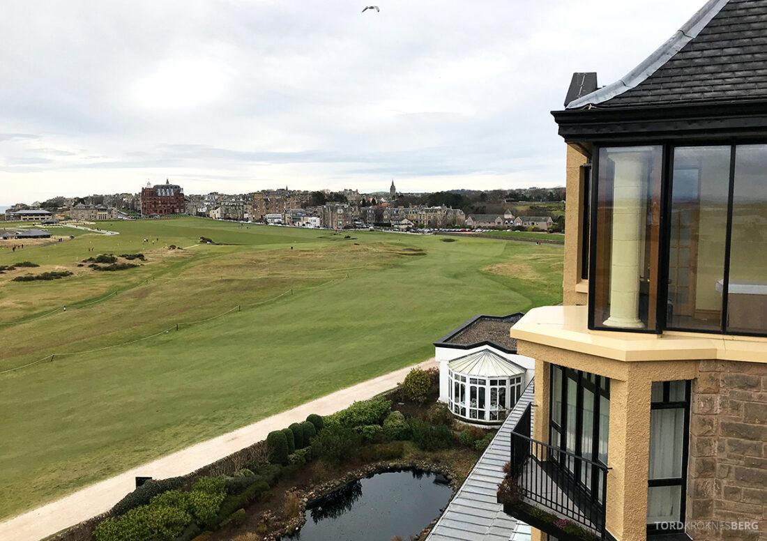 Old Course Hotel St. Andrews Scotland utsikt golfbane