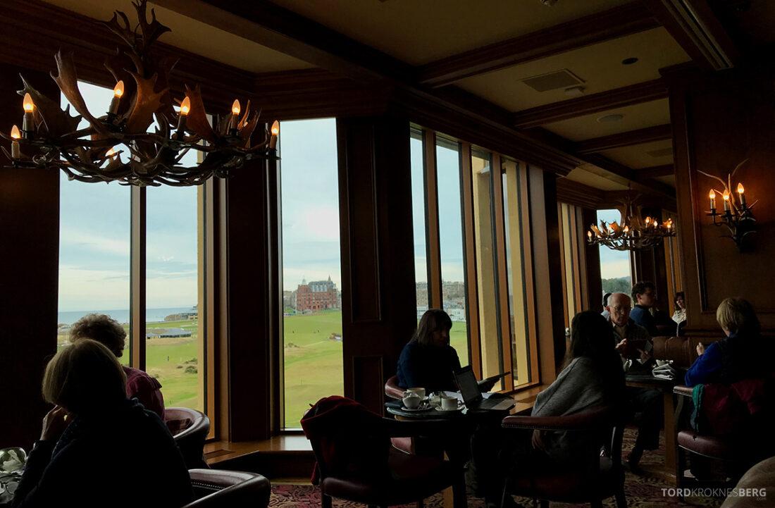 Old Course Hotel St. Andrews Scotland bar utsikt